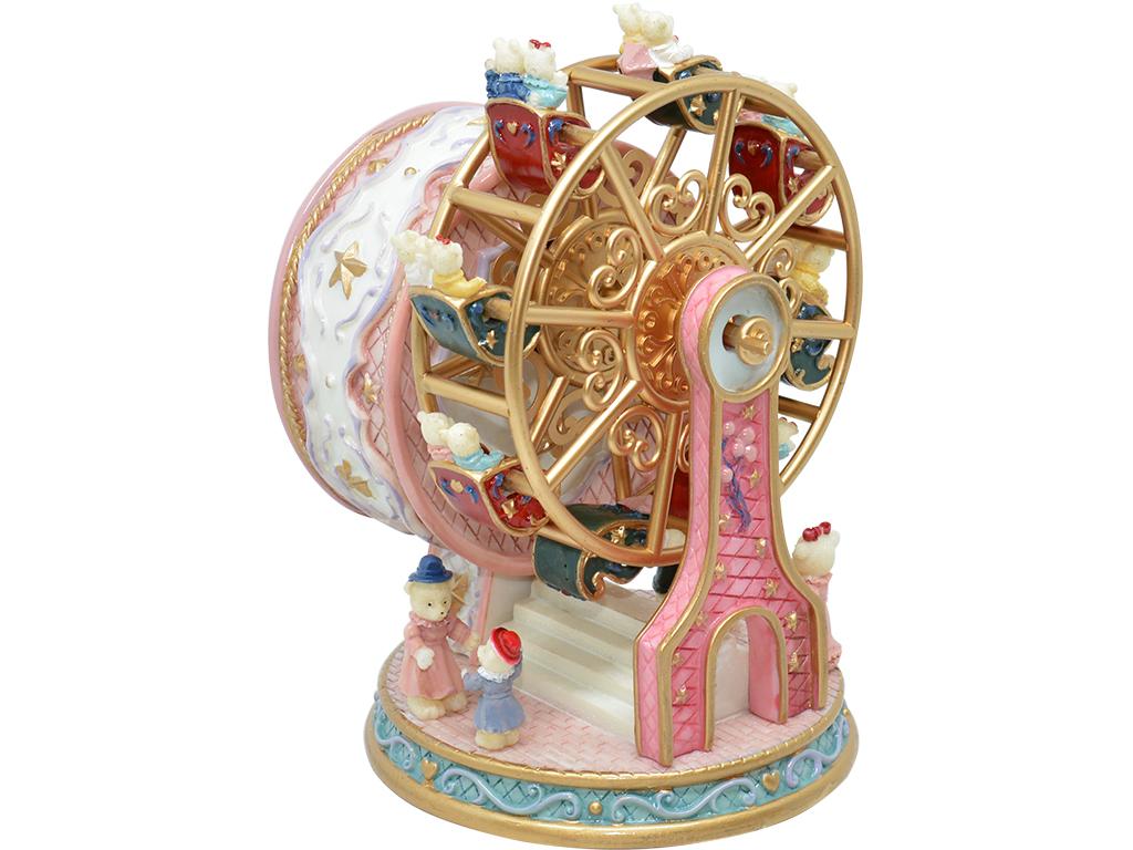 Caixa de Música Giratória - Roda Gigante Rosa