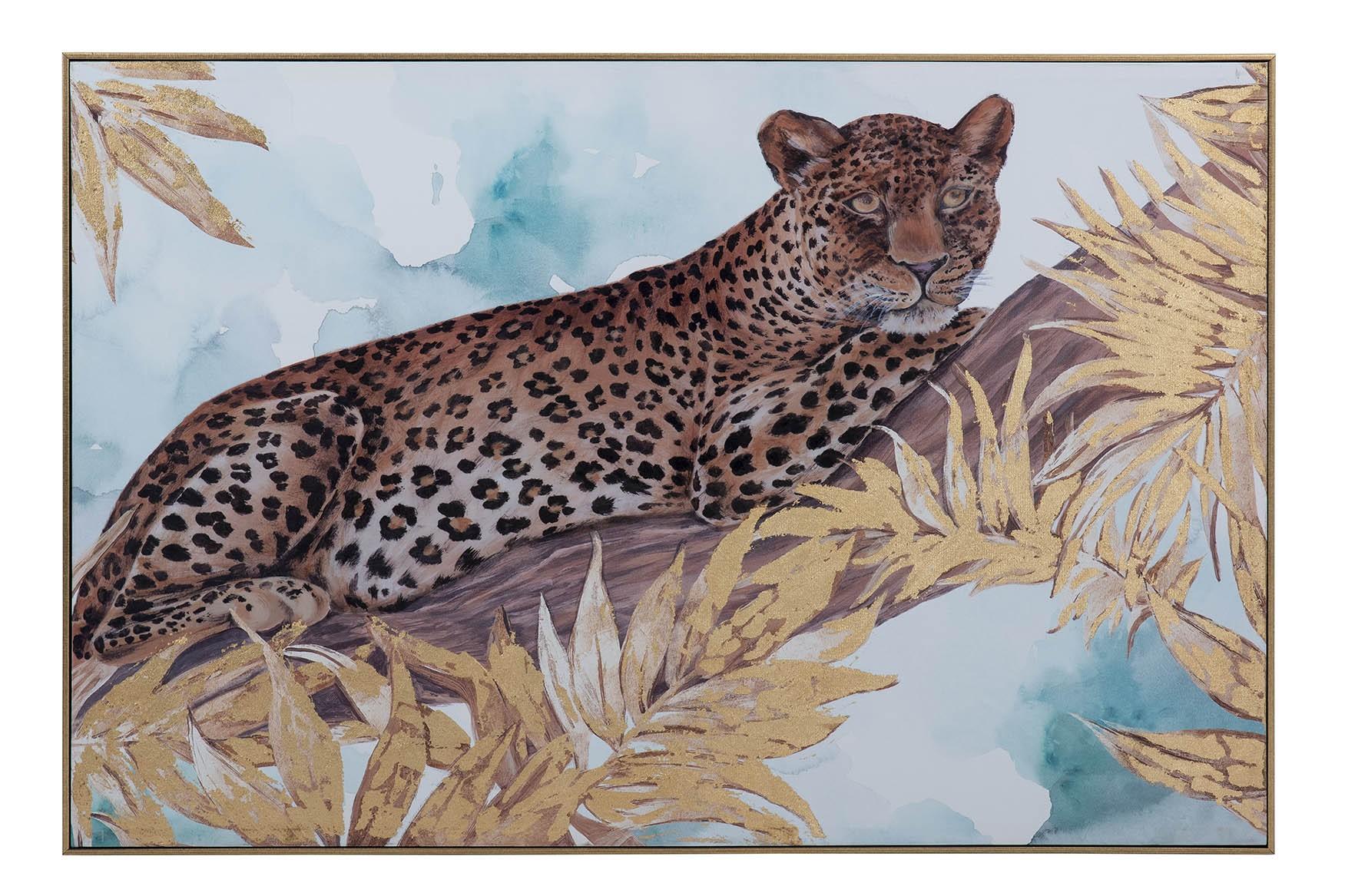 Tela leopardo 122x82cms