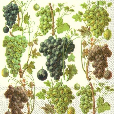 Guardanapos de papel uvas