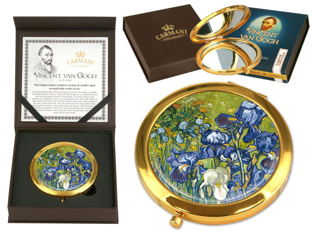 Mestres da pintura- V. Van Gogh - Iris - espelho de mala