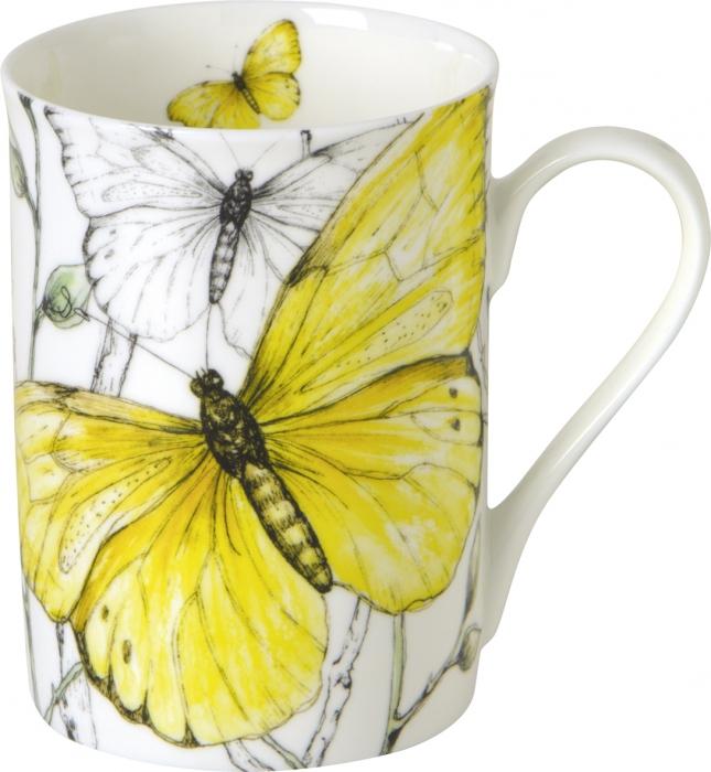 IHR- Caneca borboletas amarelas porcelana