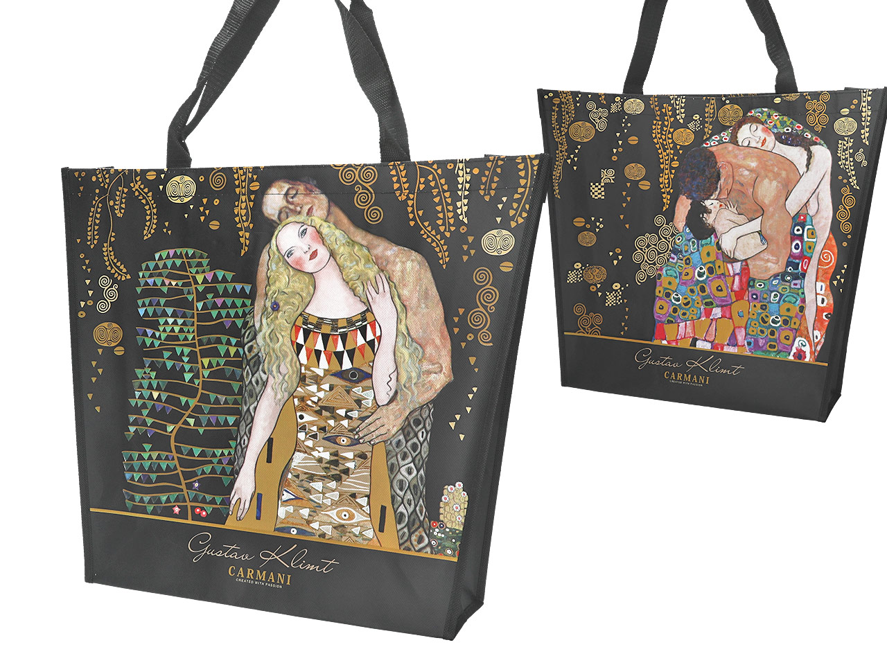 Mestres da pintura-Klimt saco de ombro 2 faces