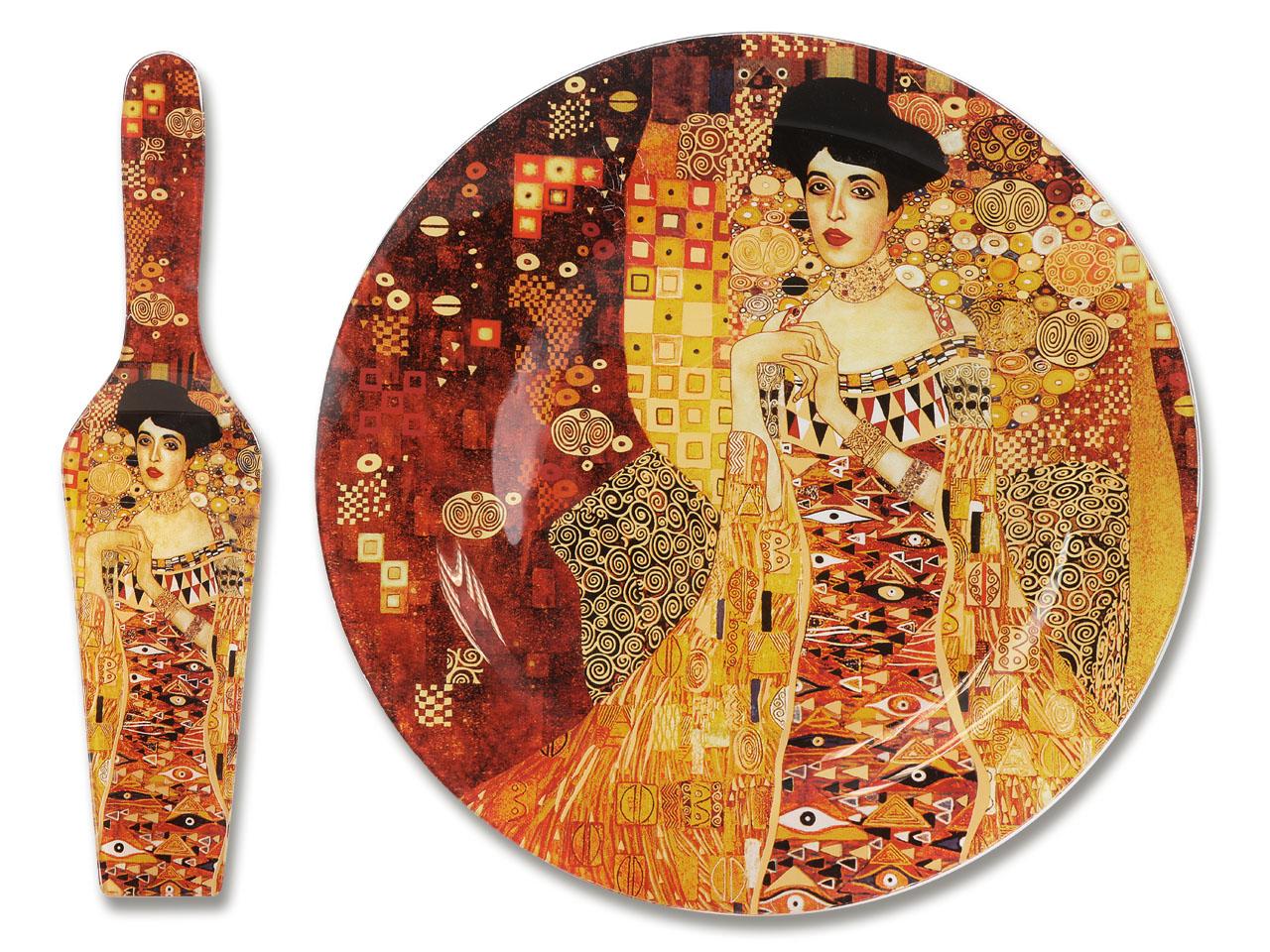Mestres da pintura - Klimt- Adele - Prato para Bolo