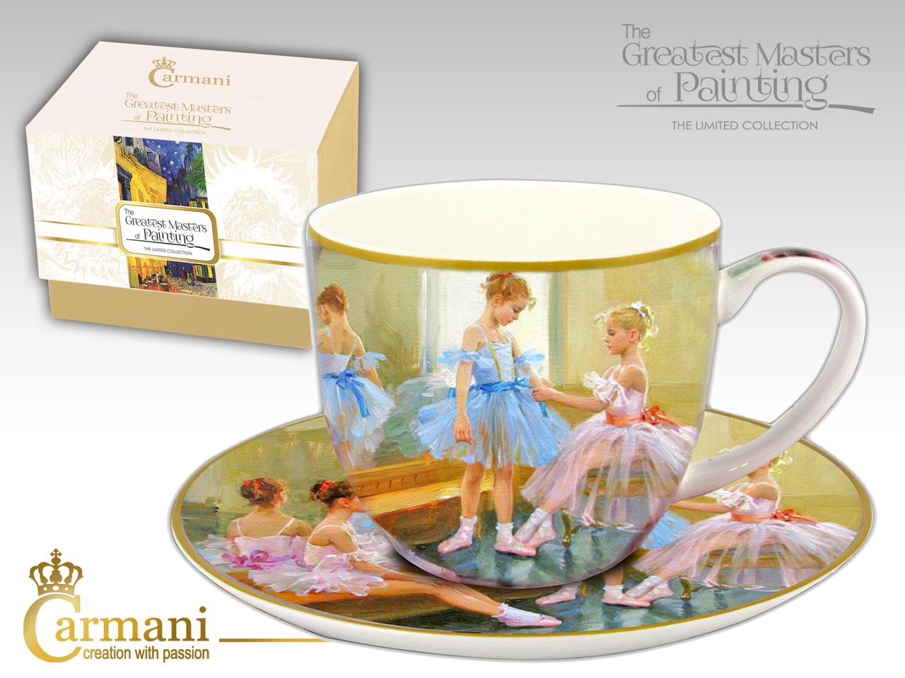 Mestres da pintura- Chavena de cha Porcelana Bailarinas