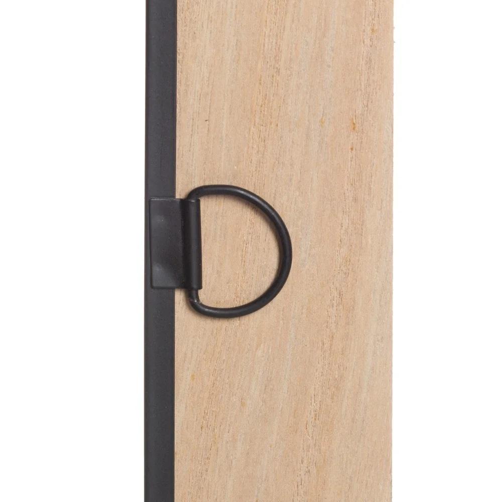 Chaveiro madeira vidro metal