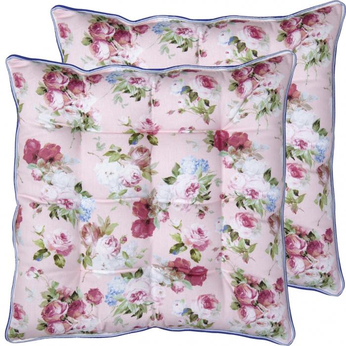 IHR- almofada para cadeira rosinhas