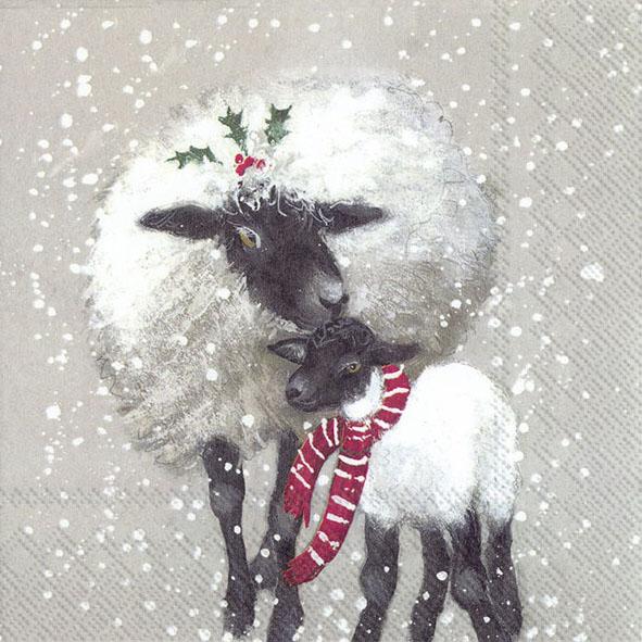 Guardanapos de papel Ovelhas Natal