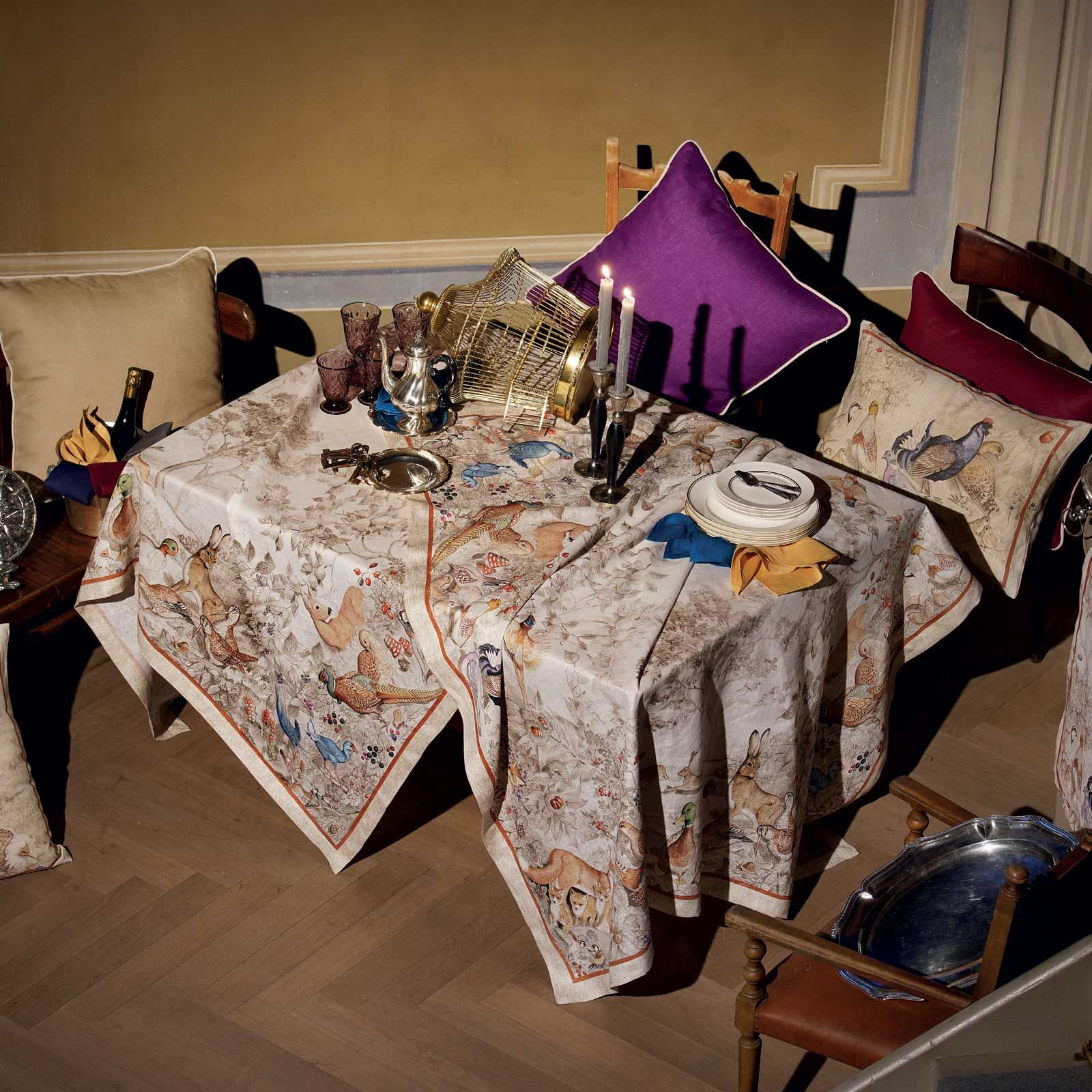Toalha de mesa Tessitura 100% linho campo 1.70x2.70 mts