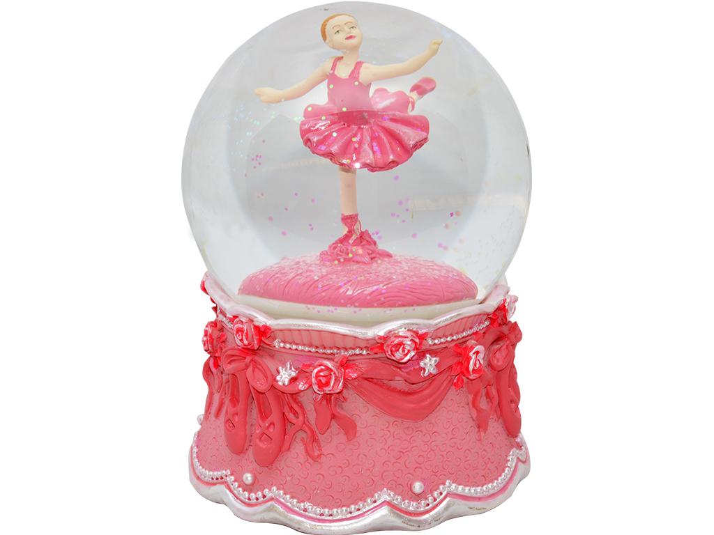 Caixa de Música Giratória - Bailarina Fuscia