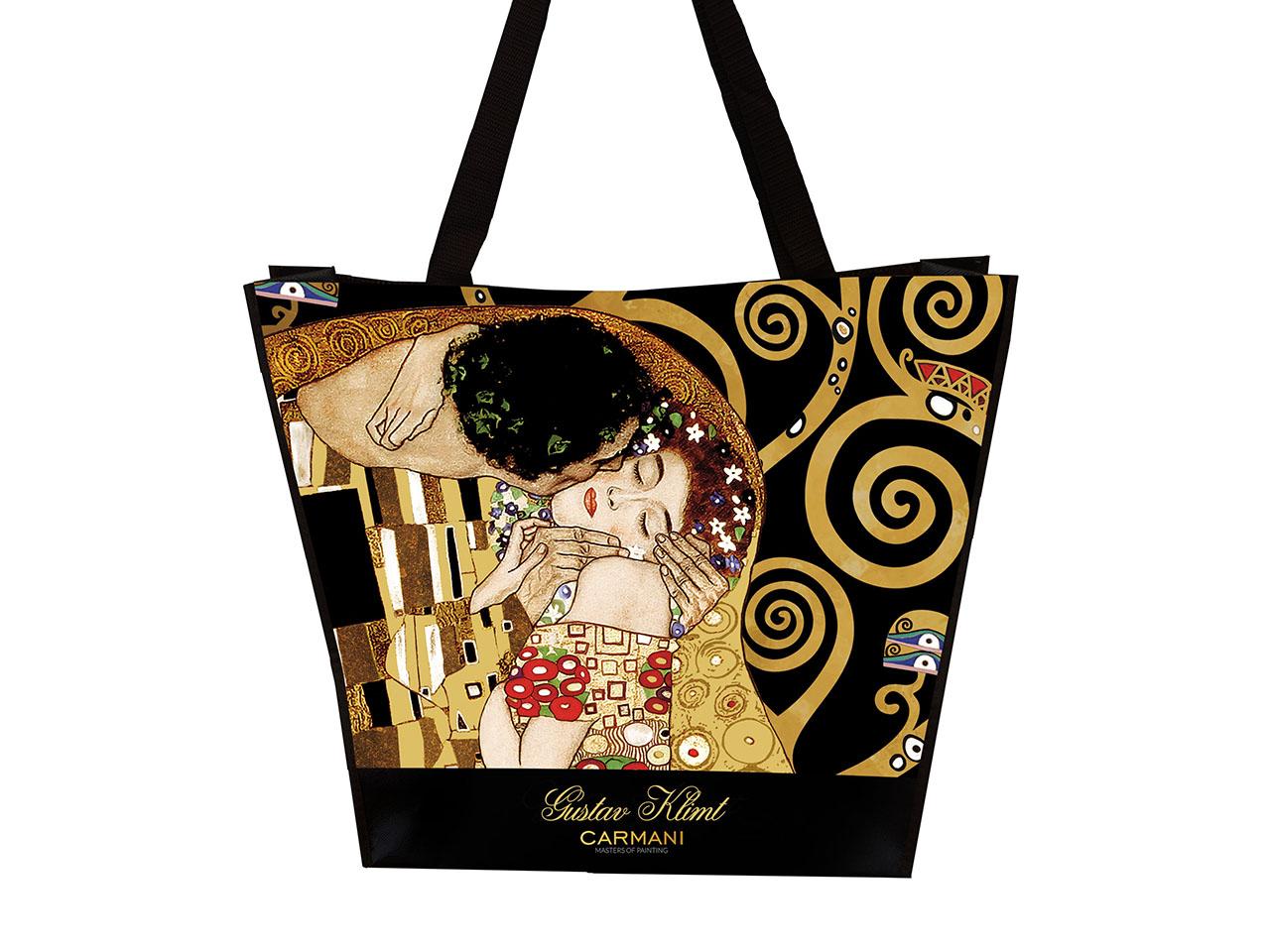 Mestres da pintura-Klimt ,O beijo ,saco de ombro 2 faces