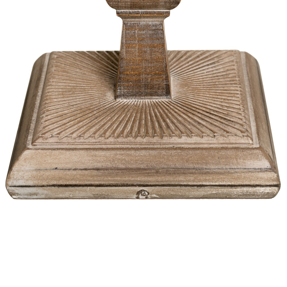 Candeeiro de chão madeira com abatjour