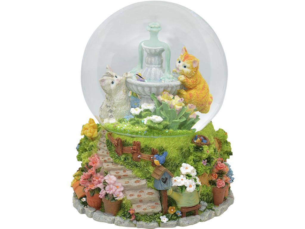 Caixa de Música Base Giratória - Gatinhos