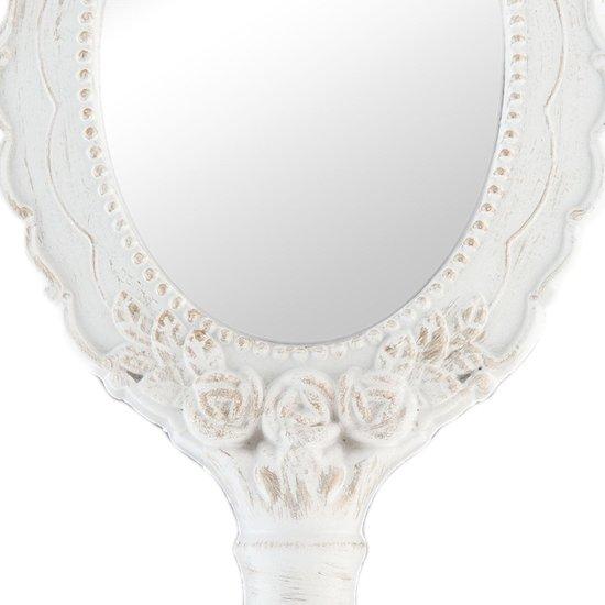 Espelho de Mão Clássico Branco