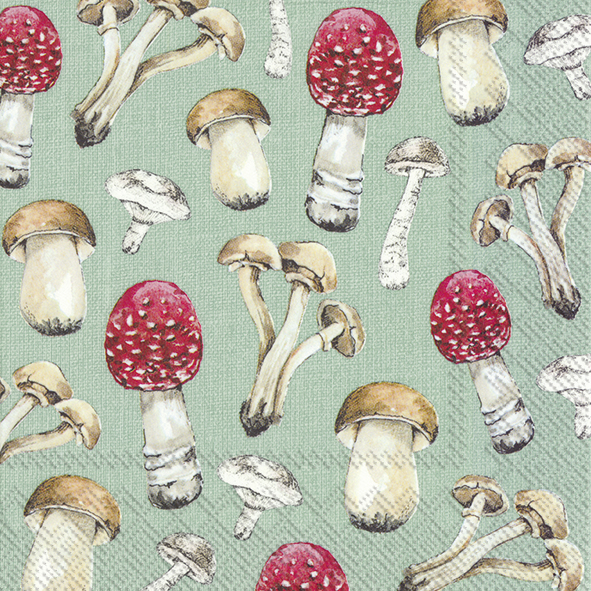 Guardanapos de papel cogumelos