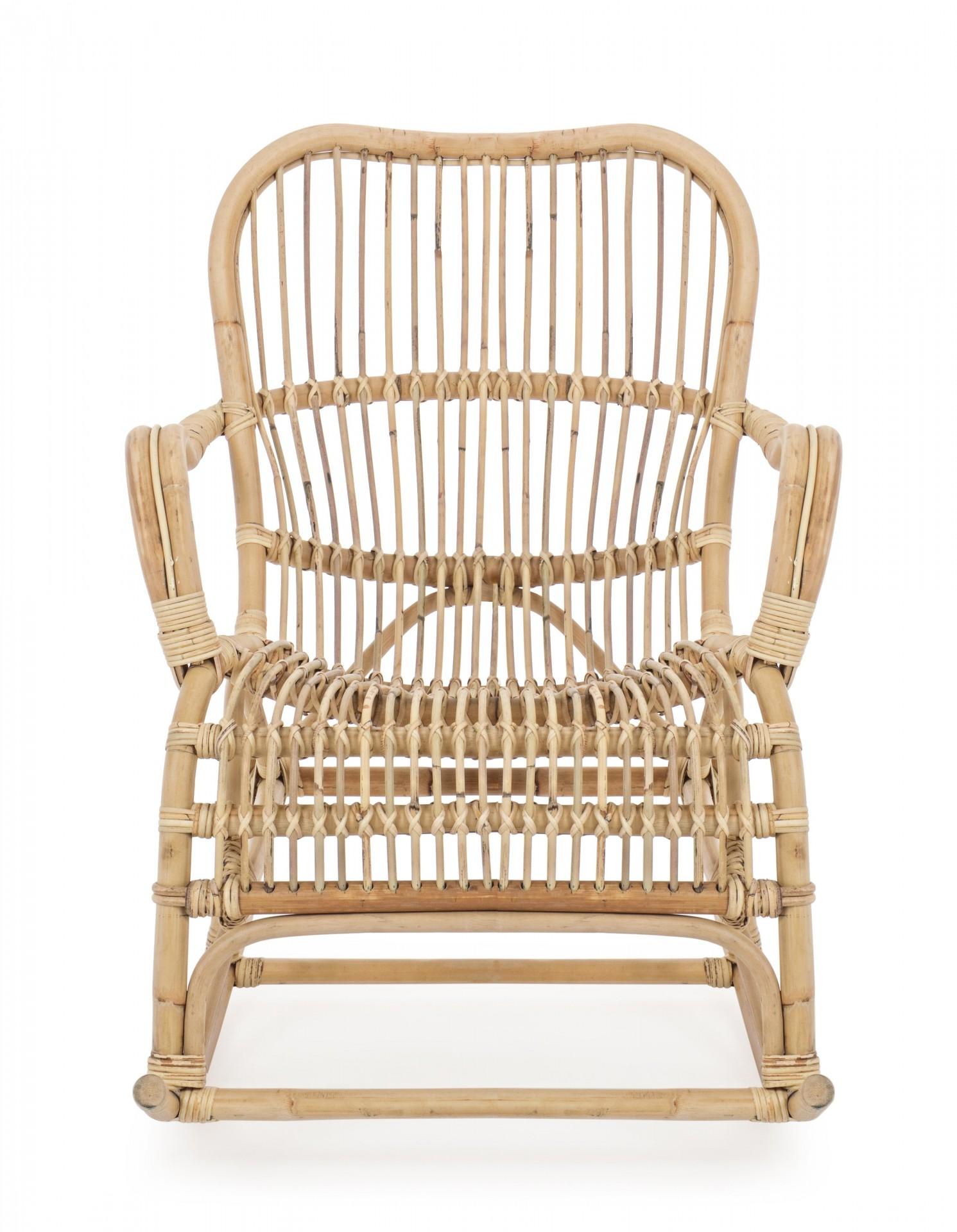 Cadeira de baloiço Casimira, rattan cor natural