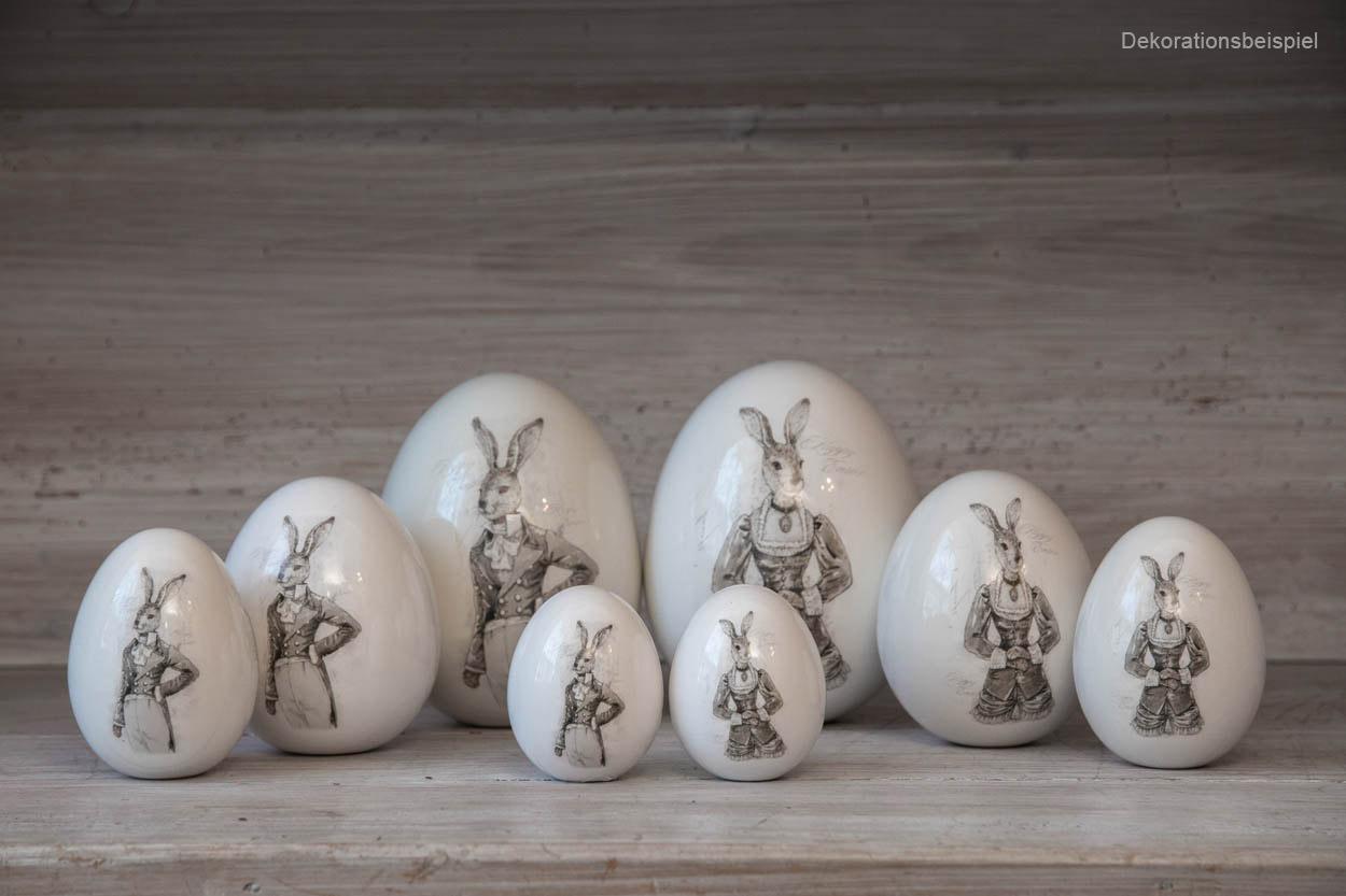 Par de ovos Nostalgia porcelana 15.5 cms