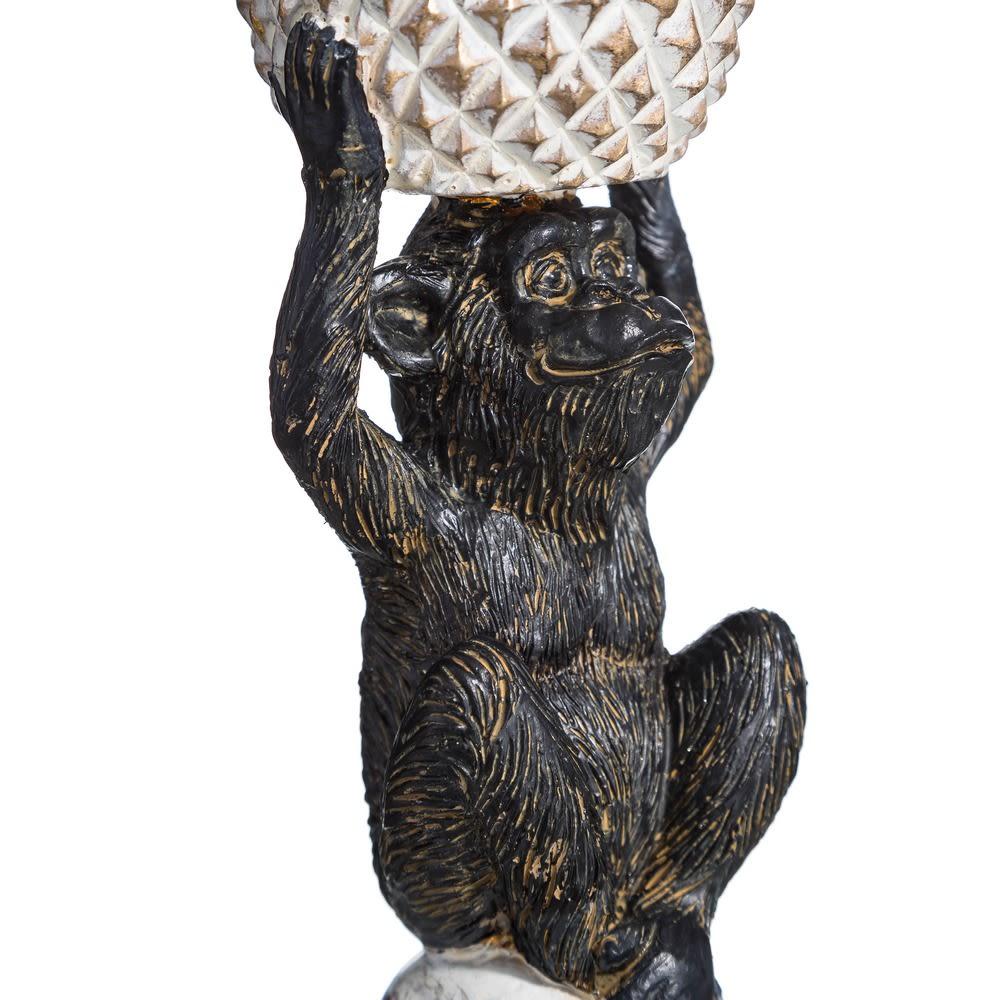 Castiçal Macaco Dourado/Preto