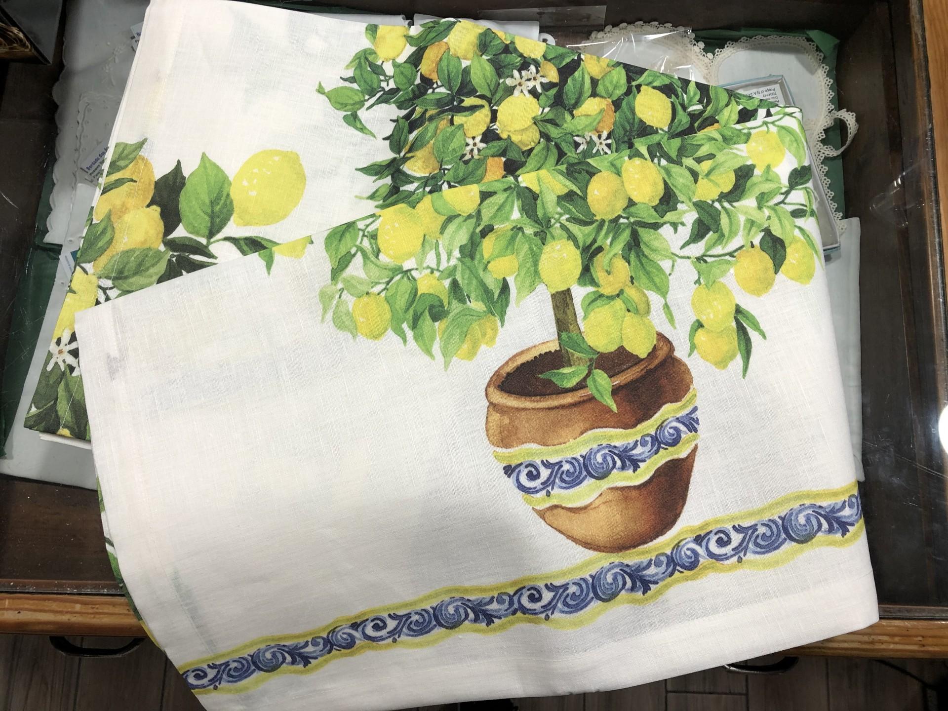 Toalha de mesa Tessitura 100% linho Limões 2.70x1.70