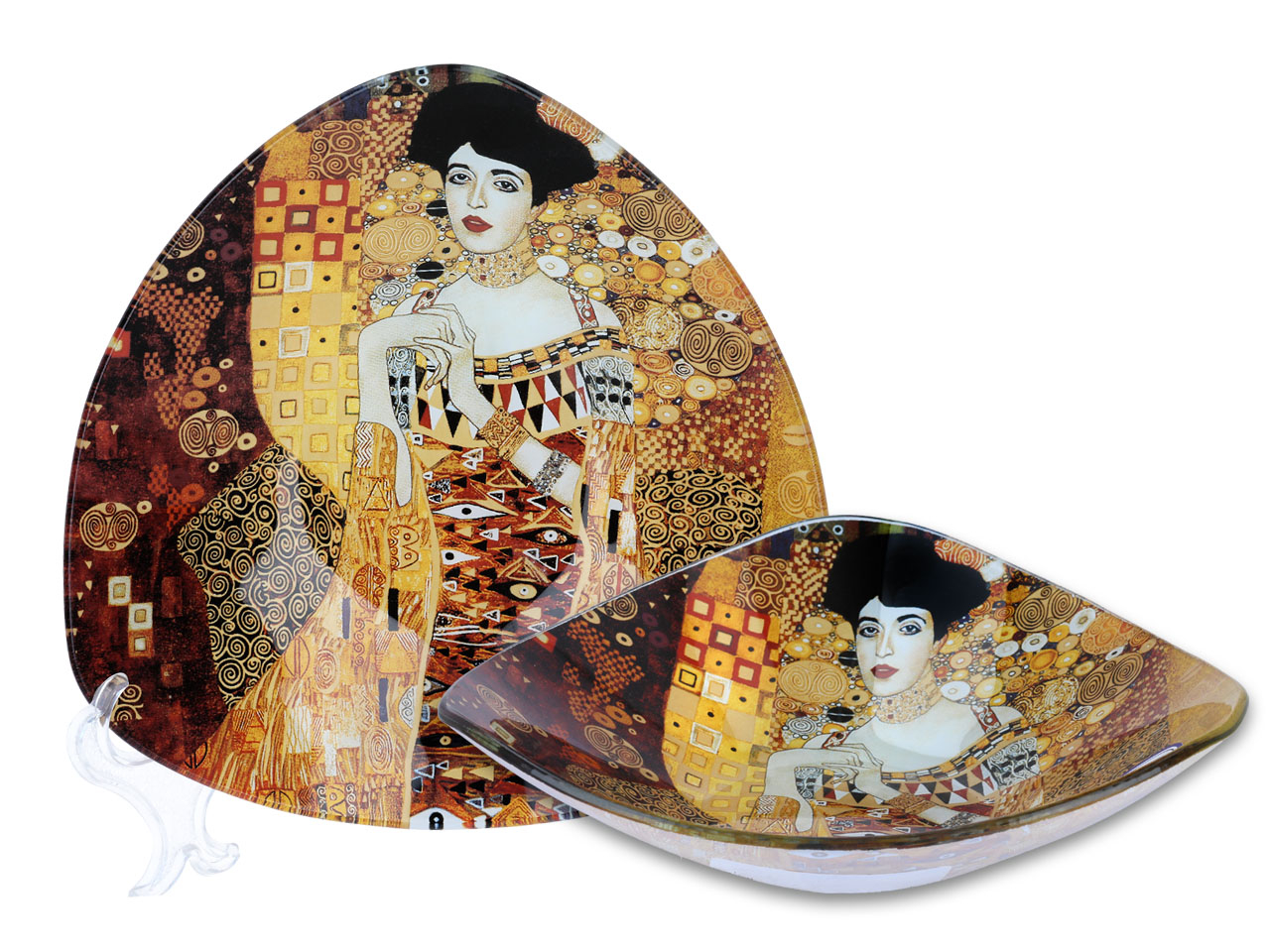 Mestres da pintura - Klimt- Adele - Tigela