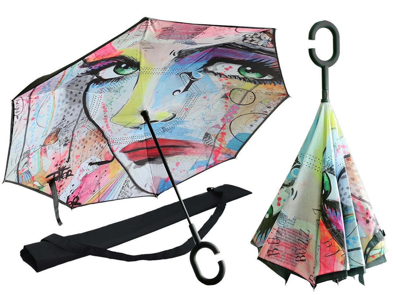 Mestres da pintura-Loui Jover-Chapéu de chuva