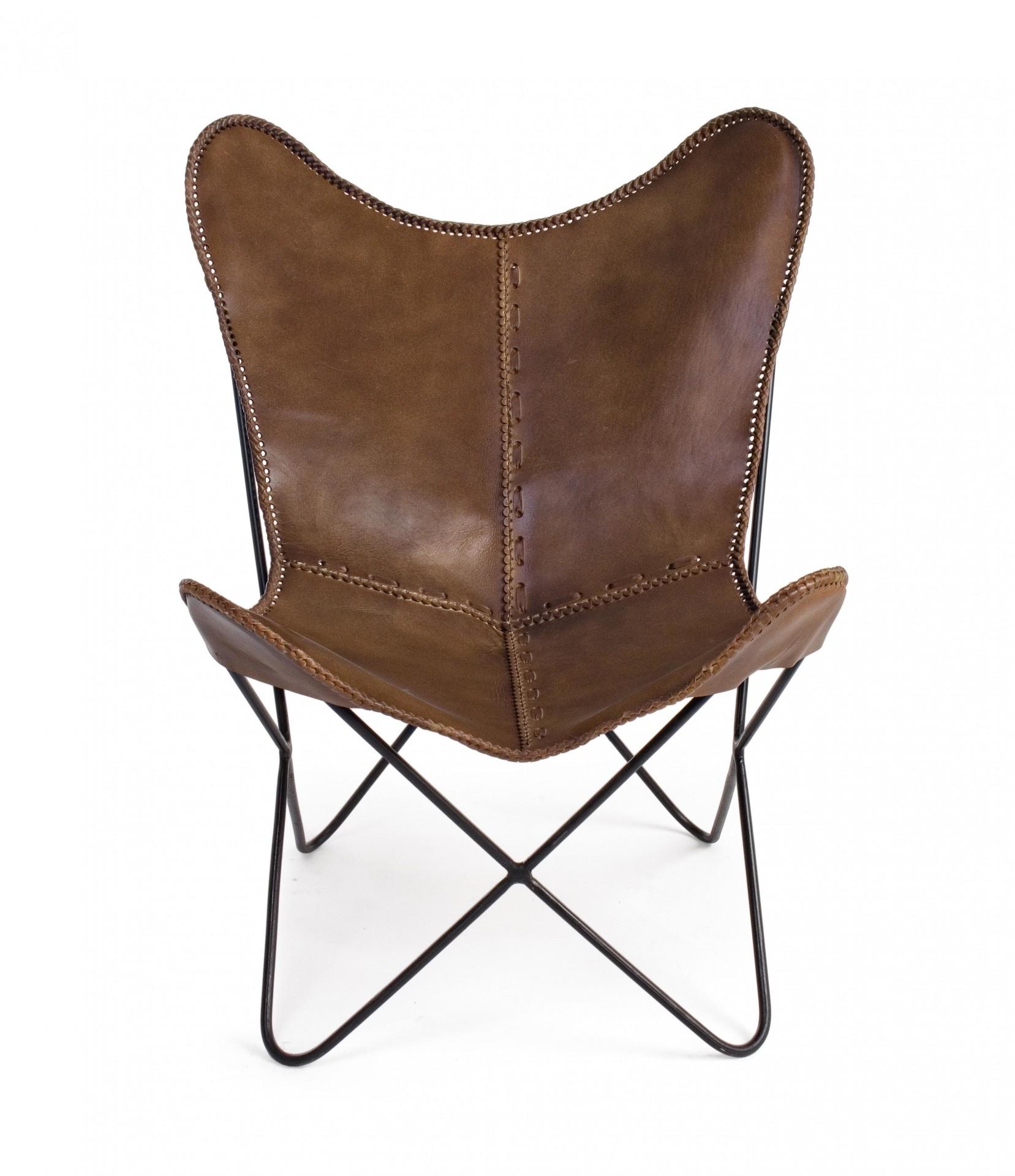 Cadeira Eaton em Couro. Estilo Vintage