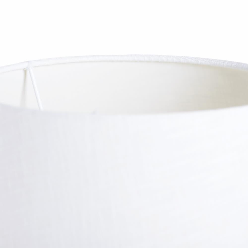 Candeeiro de mesa metal prateado com abatjour