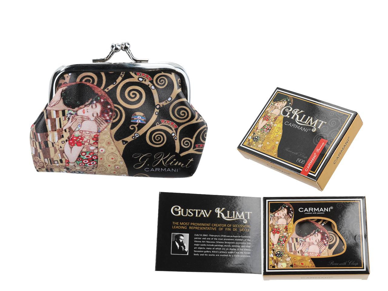 Mestres da pintura - Klimt - O Beijo - Carteira