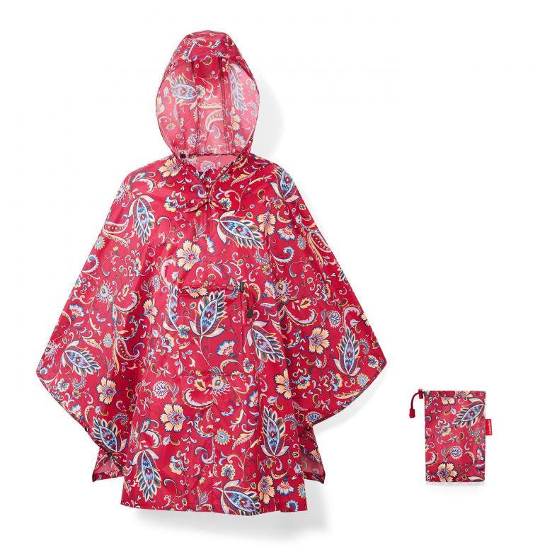 Reisenthel capa chuva desdobravel mini maxi poncho paisley ruby