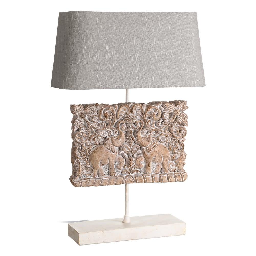 Candeeiro Rectangular com Elefantes