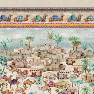 Tessitura Colcha/mural/cobertura 100%linho ,camelos 2.70x2.80mts
