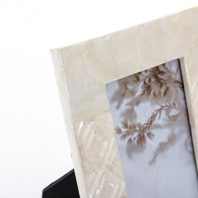 Moldura madreperola branco lousangulos  10x15cms