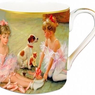 Mestres da pintura- Caneca Porcelana Bailarinas e cao