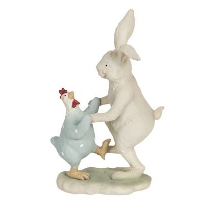 Coelho a dançar com galinha