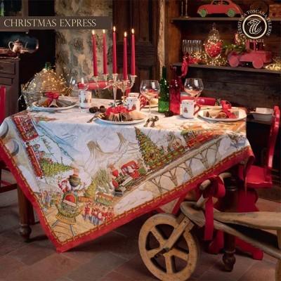 Tessitura Toscana - Toalha 100% Linho - Christmas Express