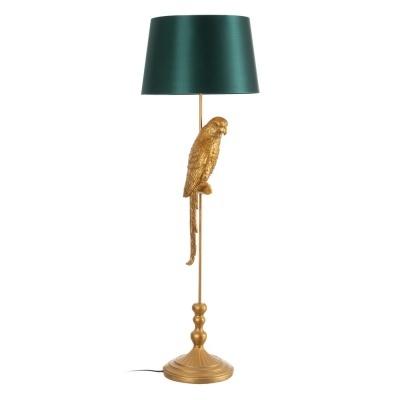 Candeeiro de Chão dourado papagaio com abatjour 40 X 40 X 121 CM