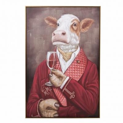 Quadro tela Vaca aristocrata 80x120