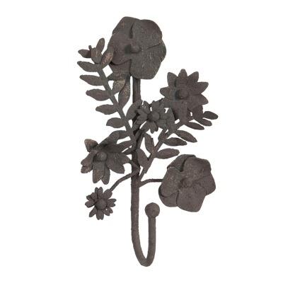 Cabide ferro flores e fetos individual