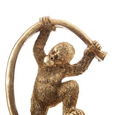 Folha dourada com gorila pendurado- Despeja bolsos