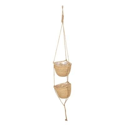 Suspenção suporte vasos duplo corda
