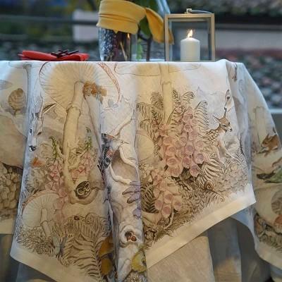 Toalha de mesa Tessitura 100% linho Bosque 1.70x1.70