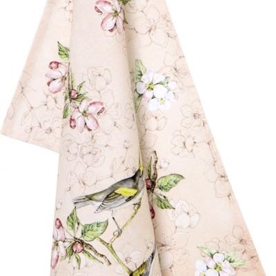 Pano de loiça ou tea towel -Passarinho sinfonia