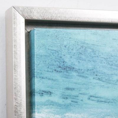 """Quadro tela abstracto """"Luar em mar de espuma"""" 120X3,8X90 CM"""