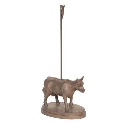 Vaca ferro com mola para foto ou cartao