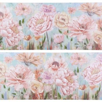 Quadro tela jardim das flores 150x60cms