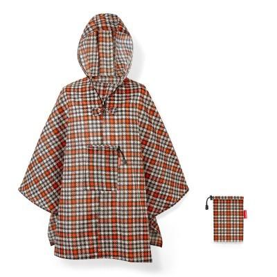Reisenthel capa chuva desdobravel mini maxi poncho  glencheck red
