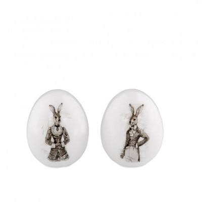 Cópia de Par de ovos Nostalgia porcelana 7.8 cms
