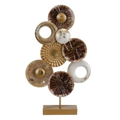 Peça em metal decorativa de mesa  34,30 X 8,30 X 58,40 CM