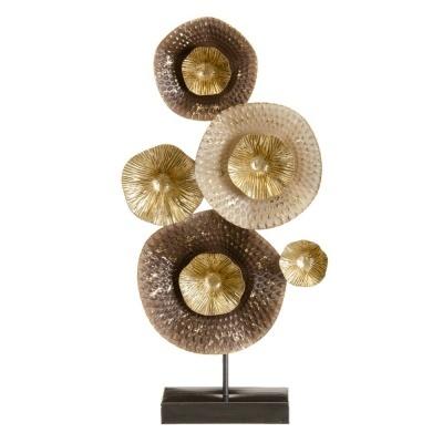 Peça em metal decorativa de mesa  28,60 X 8,30 X 57,80 CM
