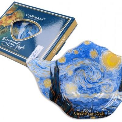 Mestres da pintura - V. Van Gogh - Noite Estrelada - Pousa saquetas chá Vidro