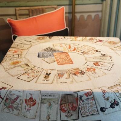 Toalha de mesa Tessitura 100% linho Jogo de cartas